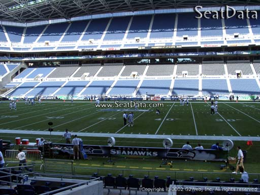 Seat view from section 134 at CenturyLink Field, home of the Seattle Seahawks