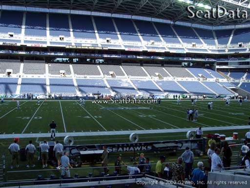 Seat view from section 136 at CenturyLink Field, home of the Seattle Seahawks
