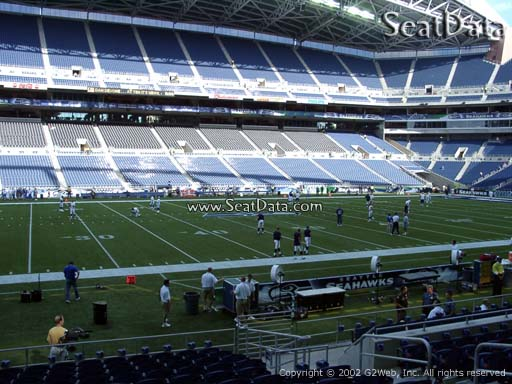 Seat view from section 137 at CenturyLink Field, home of the Seattle Seahawks