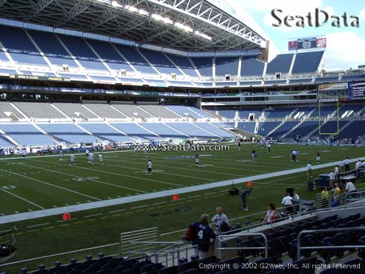 Seat view from section 139 at CenturyLink Field, home of the Seattle Seahawks