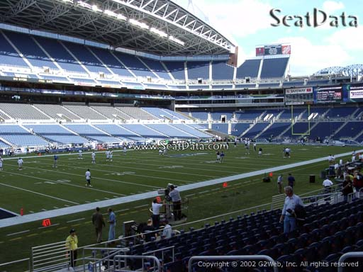 Seat view from section 141 at CenturyLink Field, home of the Seattle Seahawks