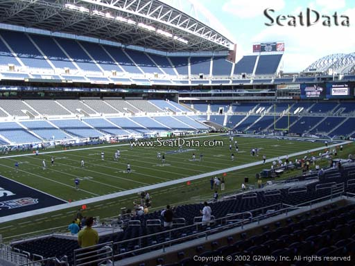 Seat view from section 142 at CenturyLink Field, home of the Seattle Seahawks