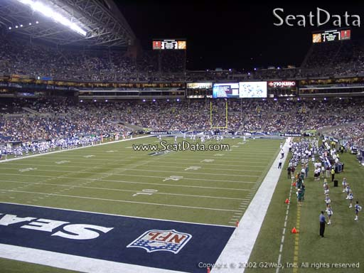 Seat view from section 144 at CenturyLink Field, home of the Seattle Seahawks