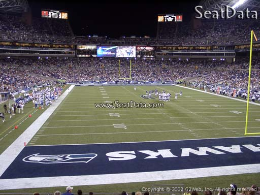 Seat view from section 151 at CenturyLink Field, home of the Seattle Seahawks