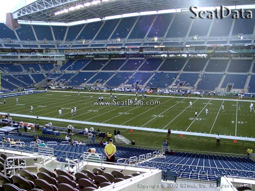 Seat view from section 206 at CenturyLink Field, home of the Seattle Seahawks