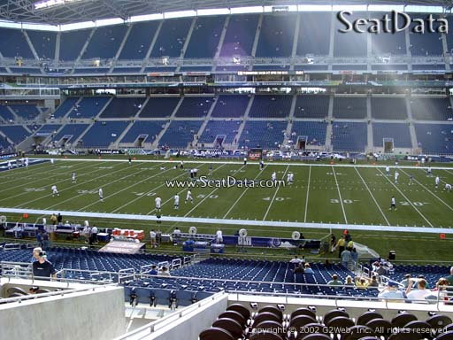 Seat view from section 208 at CenturyLink Field, home of the Seattle Seahawks
