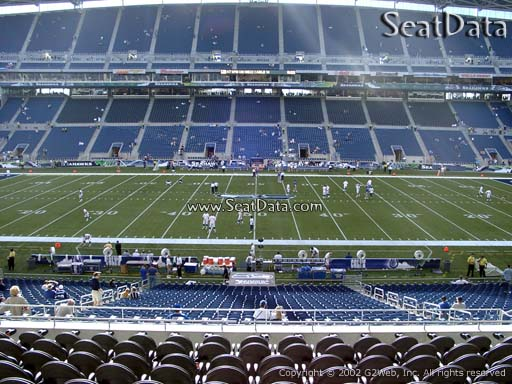 Seat view from section 209 at CenturyLink Field, home of the Seattle Seahawks