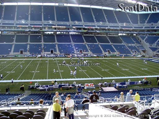Seat view from section 210 at CenturyLink Field, home of the Seattle Seahawks