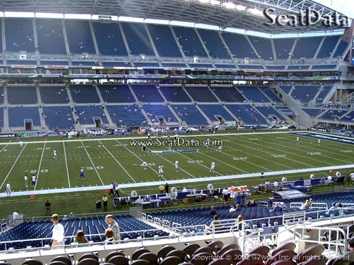 Seat view from section 211 at CenturyLink Field, home of the Seattle Seahawks