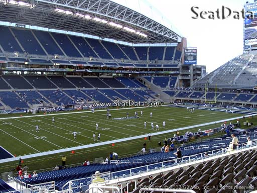 Seat view from section 214 at CenturyLink Field, home of the Seattle Seahawks