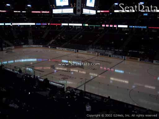 Seat view from section 206 at the Canadian Tire Centre, home of the Ottawa Senators