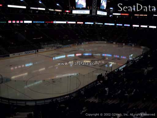 Seat view from section 212 at the Canadian Tire Centre, home of the Ottawa Senators