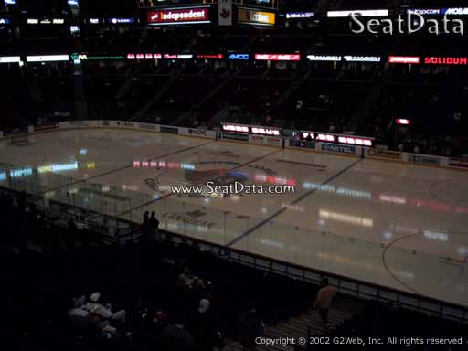 Seat view from section 220 at the Canadian Tire Centre, home of the Ottawa Senators