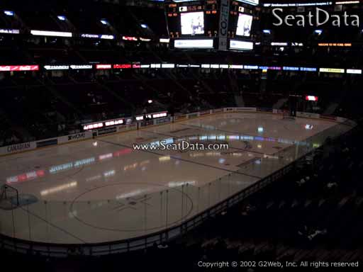 Seat view from section 226 at the Canadian Tire Centre, home of the Ottawa Senators