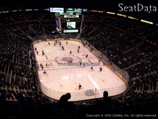 Seat view from section 302 at the Canadian Tire Centre, home of the Ottawa Senators