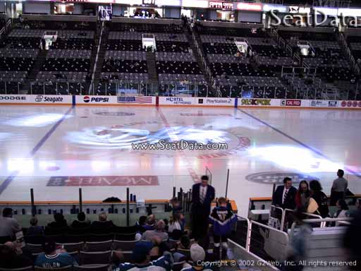 Seat view from section 101 at the SAP Center at San Jose, home of the San Jose Sharks