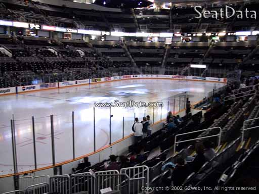 Seat view from section 104 at the SAP Center at San Jose, home of the San Jose Sharks