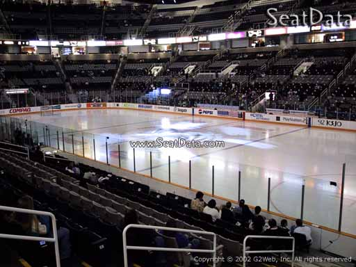 Seat view from section 113 at the SAP Center at San Jose, home of the San Jose Sharks