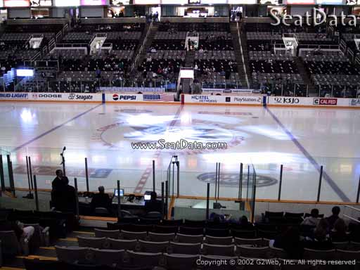 Seat view from section 115 at the SAP Center at San Jose, home of the San Jose Sharks
