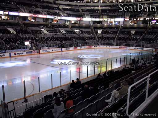 Seat view from section 117 at the SAP Center at San Jose, home of the San Jose Sharks