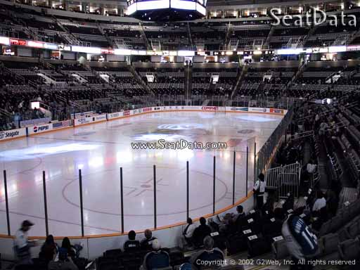 Seat view from section 120 at the SAP Center at San Jose, home of the San Jose Sharks
