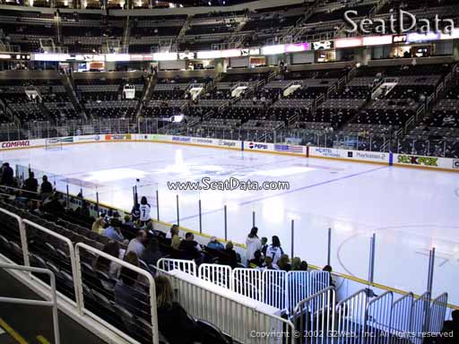 Seat view from section 127 at the SAP Center at San Jose, home of the San Jose Sharks