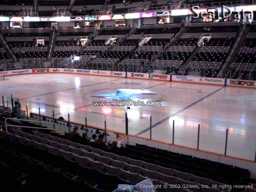 Seat view from section 128 at the SAP Center at San Jose, home of the San Jose Sharks