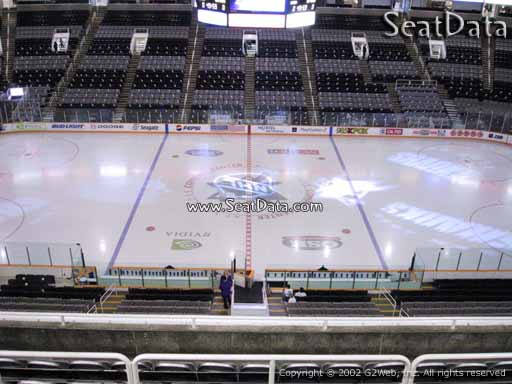 Seat view from section 201 at the SAP Center at San Jose, home of the San Jose Sharks
