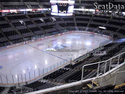 Seat view from section 204 at the SAP Center at San Jose, home of the San Jose Sharks