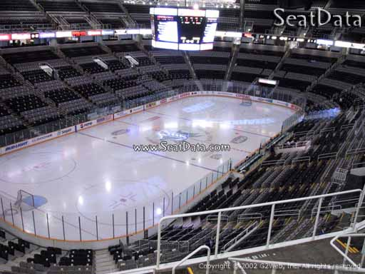 Seat view from section 205 at the SAP Center at San Jose, home of the San Jose Sharks