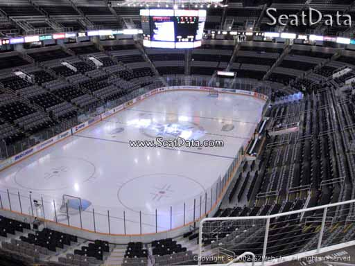 Seat view from section 206 at the SAP Center at San Jose, home of the San Jose Sharks