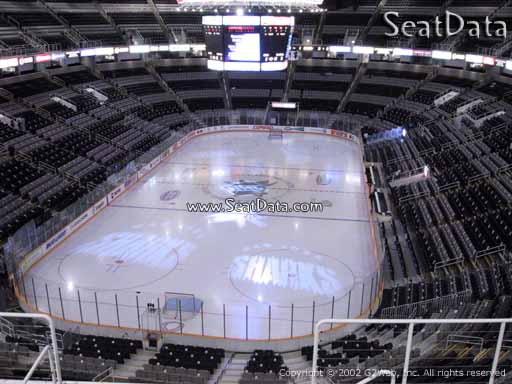 Seat view from section 207 at the SAP Center at San Jose, home of the San Jose Sharks