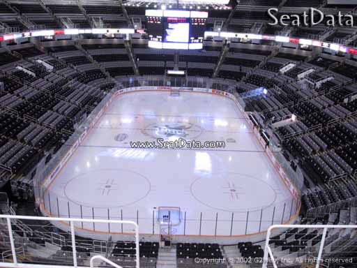 Seat view from section 208 at the SAP Center at San Jose, home of the San Jose Sharks