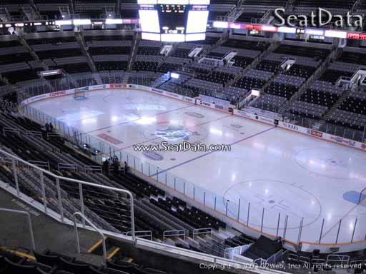 Seat view from section 212 at the SAP Center at San Jose, home of the San Jose Sharks