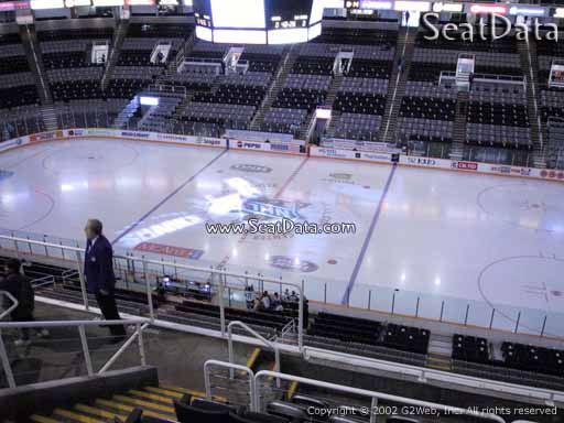 Seat view from section 214 at the SAP Center at San Jose, home of the San Jose Sharks