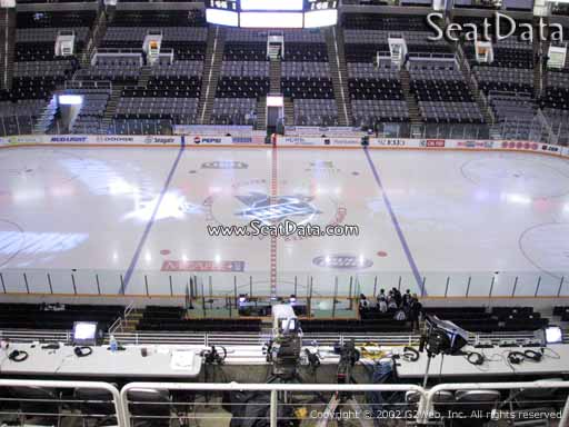 Seat view from section 215 at the SAP Center at San Jose, home of the San Jose Sharks