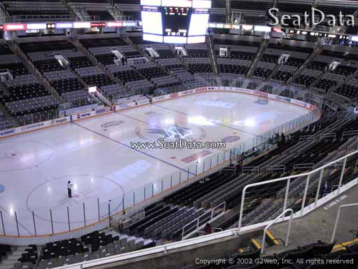 Seat view from section 218 at the SAP Center at San Jose, home of the San Jose Sharks