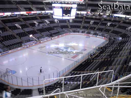 Seat view from section 219 at the SAP Center at San Jose, home of the San Jose Sharks