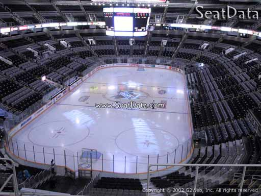Seat view from section 221 at the SAP Center at San Jose, home of the San Jose Sharks