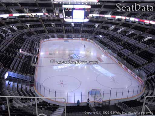 Seat view from section 223 at the SAP Center at San Jose, home of the San Jose Sharks