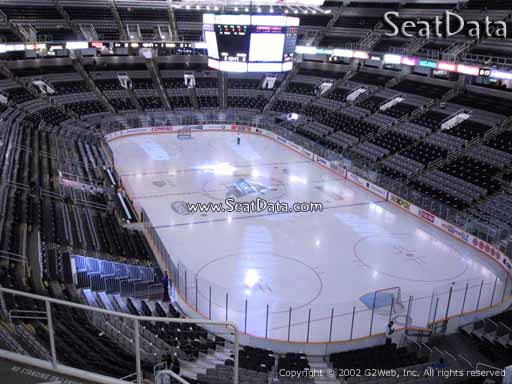 Seat view from section 224 at the SAP Center at San Jose, home of the San Jose Sharks