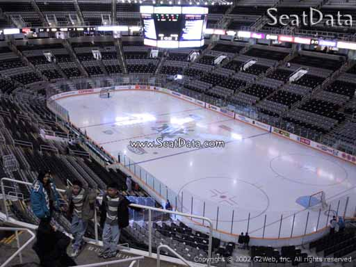 Seat view from section 225 at the SAP Center at San Jose, home of the San Jose Sharks