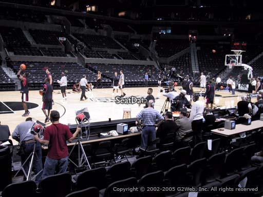Seat view from Section 10 at the AT&T Center, home of the San Antonio Spurs