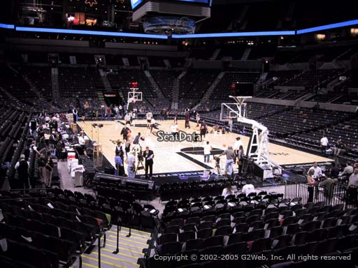 Seat view from Section 102 at the AT&T Center, home of the San Antonio Spurs