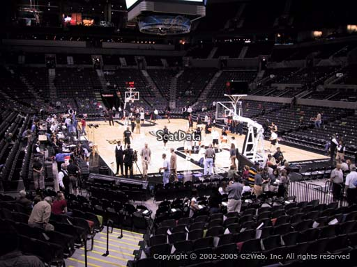Seat view from Section 103 at the AT&T Center, home of the San Antonio Spurs