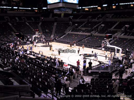Seat view from Section 104 at the AT&T Center, home of the San Antonio Spurs