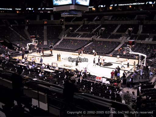 Seat view from Section 105 at the AT&T Center, home of the San Antonio Spurs