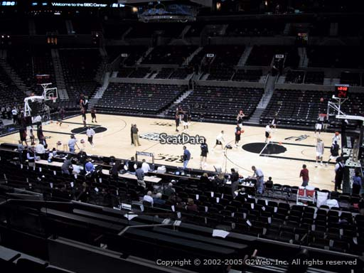 Seat view from Section 106 at the AT&T Center, home of the San Antonio Spurs