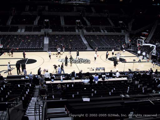 Seat view from Section 108 at the AT&T Center, home of the San Antonio Spurs
