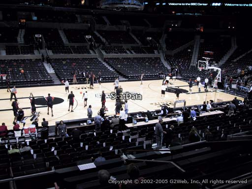 Seat view from Section 109 at the AT&T Center, home of the San Antonio Spurs